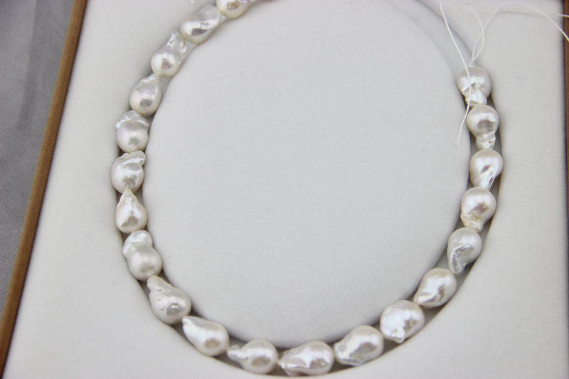 Mariage éternel femmes cadeau mot 925 argent Sterling véritable Baroque a des perles nucléaires, 11-14MMAAAA produits semi-finis exportés