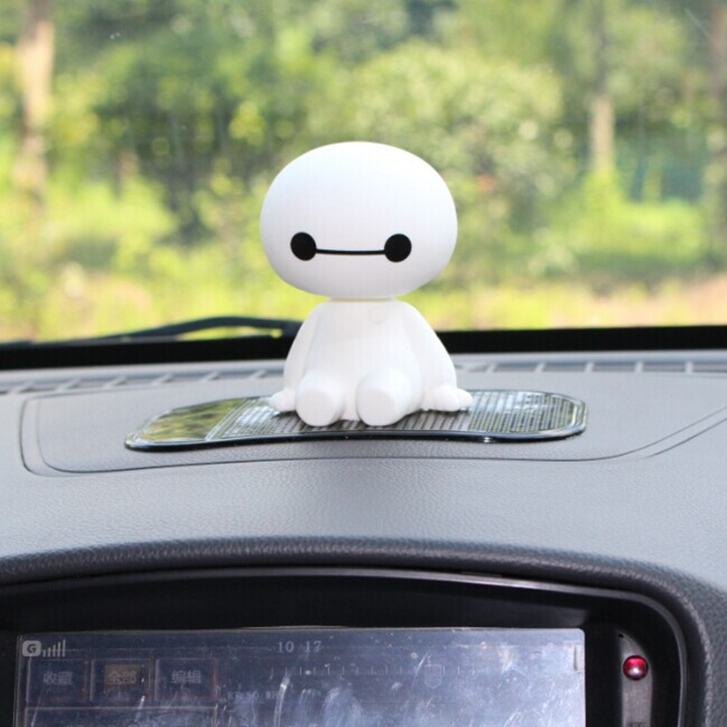 Image 3 - Cartoon Plastic Baymax Robot Shaking Head Figure Car Ornaments Auto Interior Decorations Super Marines Toys Ornament Car Styling-in Ornaments from Automobiles & Motorcycles