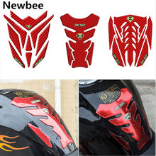 Newbee 3D Red Motorcycle Sticker Gas Fuel Tank Pad Protector Cover Motorbike Decal for KTM Yamaha Honda Kawasaki BMW Moto(China)