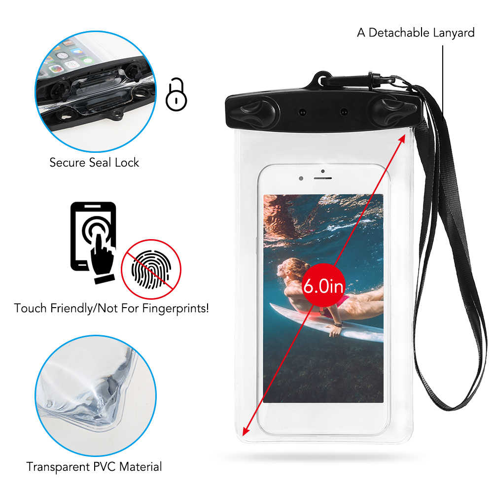 15L 防水ドライ電話ケースバッグロールトップドライ袋カヤックボート釣りサーフィン水泳ラフティング