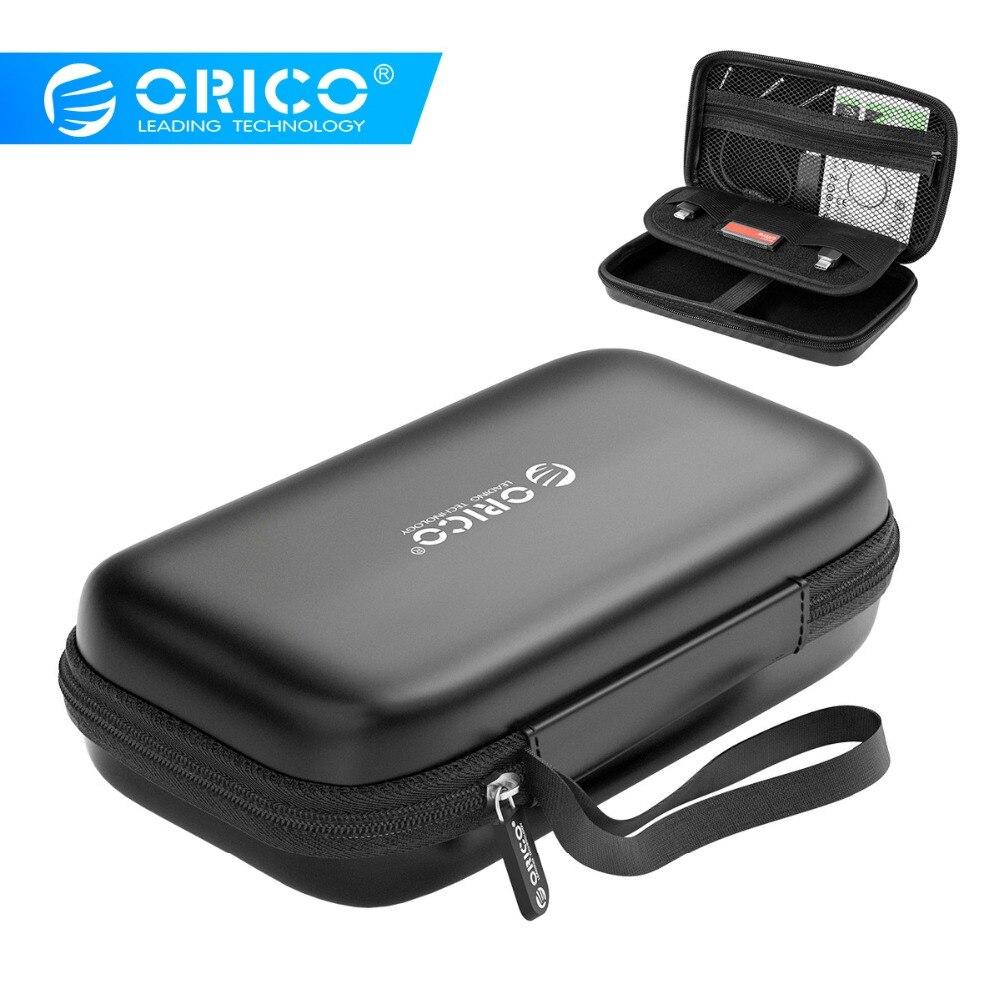 ORICO Caso HDD Caixa Caso Banco de Potência para 2.5 Unidade de Disco Rígido SSD de Armazenamento de Transporte Cabo USB Externo Caso HDD caixa de armazenamento