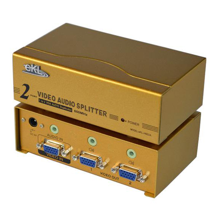 Vga splitter one point second 2 600mhz belt hd hub ekl