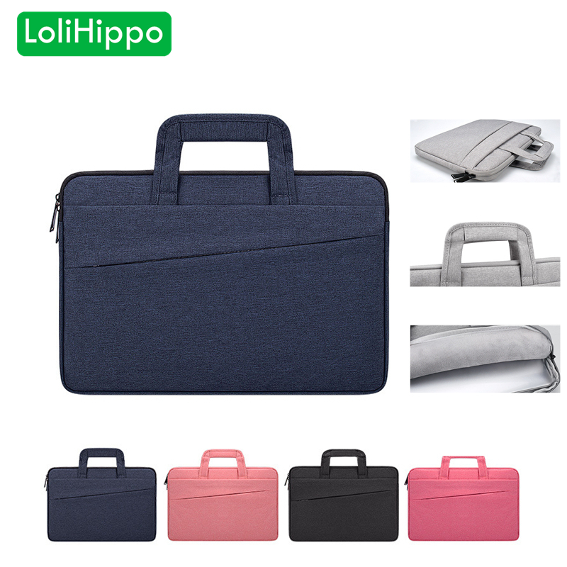 LoliHippo Ultrathin Laptop Briefcase Wear Resistant Notebook Liner Sleeve Bag for Apple Macbook Dell Sony Huawei HP 13 14.1 15.6