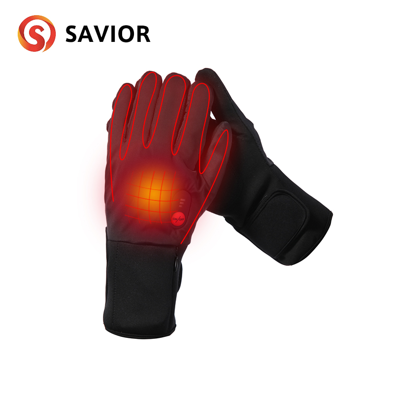 Savior winter outdoor bicycle heated glove electric warm gloves 3 levels control anti freeze battery quick heat wind waterproof|gloves gloves|heated bicycle gloves|bicycle gloves - title=