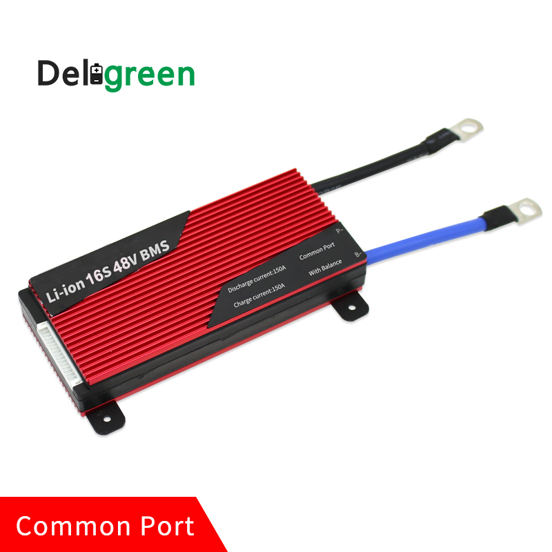 Deligreen 16S 200A 48V PCM/PCB/BMS for LiFePO4 battery pack 18650 Lithion Ion Battery Pack protection board lto battery bms 5s 12v 80a 100a 200a lithium titanate battery circuit protection board bms pcm for lto battery pack same port