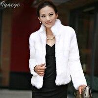 New 2019 Luxury Thick Faux Fur Artificial Coats Winter Jacket Women's Rabbit Fur Rex Coat Big Size Stand Collar Slim Clothes