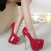 New fashion wild thick soled waterproof high heels sexy super high with 16CM large size comfortable high heels.