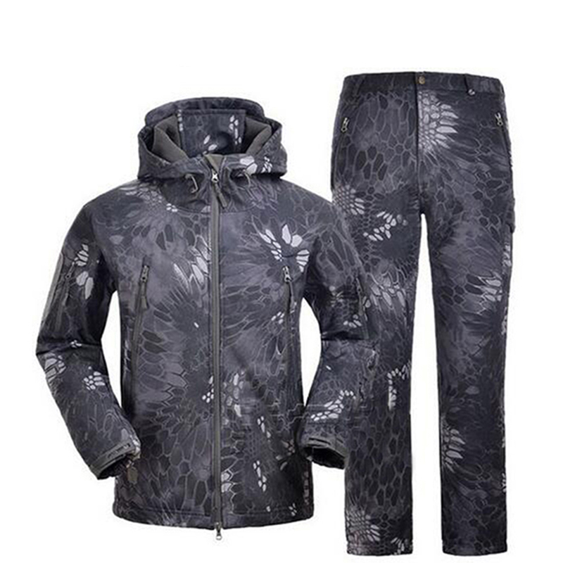 Tactical Hunting Jacket Lurker Shark skin Soft Shell TAD V 4.0 Military Jacket Outdoor Sport Hiking Waterproof Windbreaker Coat lurker shark skin soft shell v4 military tactical jacket men waterproof windproof warm coat camouflage hooded camo army clothing