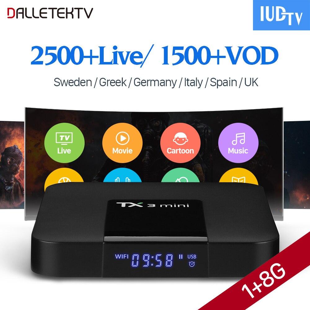 TX3 MINI TV Box Smart Android 7.1 Europe IP TV 2500+ 1 Year IUDTV Code IPTV Sweden Belgium Spain Nordic Arabic IPTV Top Box belgium culture smart