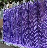 Шелк льда voilet элегантные свадебные фон 3 м * 6 м свадебные принадлежности Шторы Свадебные Аксессуары 20ft * 10FT Сирень цвет
