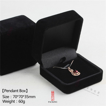цена на Clearance Sale 6pcs/Lot 7*7*3.5cm Black Velvet pendant or necklace box All are sold at a low price at the end of the year.