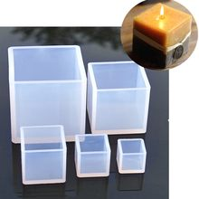 New Cube Shape Candle Silicone Mold DIY Gypsum Plaster Crafts Mould Square Silicone Soap Candle Resin Molds(China)