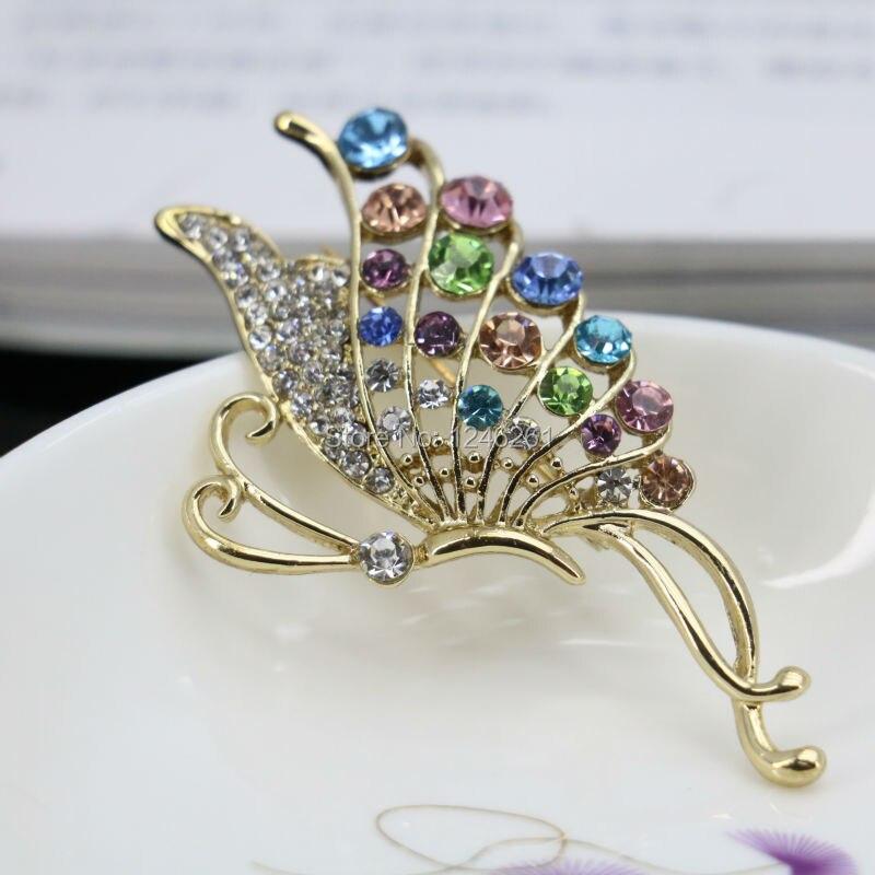 っElegant Brooches Crystal breastpin Glass Beaded Plated Wedding For ...