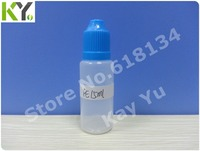 Wholesale Free shipping--15ml PE tamper cap  plastic bottle  with normal tip for 10000pcs E-cigarette bottle