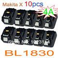 Оптовая продажа ---- 10 шт./лот Новинка Makita BL1830 (18 В/4A) 72 Вт литий-ионный аккумулятор для электроинструмента высокой емкости!