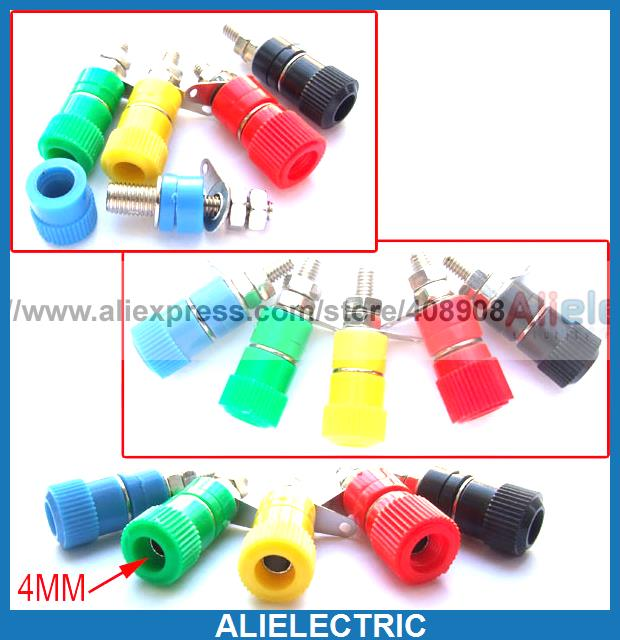 400pcs 5 Colors 4mm Binding Posts for Power Banana Plug Test Probes Amplifier
