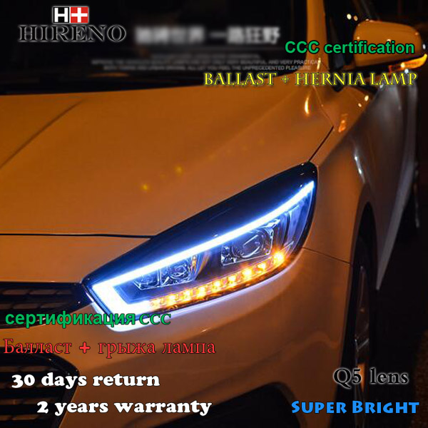 Hireno Headlamp for 2015 2016 2017 Chevrolet Cruze Headlight Assembly LED DRL Angel Lens Double Beam HID Xenon 2pcs hireno headlamp for 2015 2017 hyundai ix25 crete headlight assembly led drl angel lens double beam hid xenon 2pcs