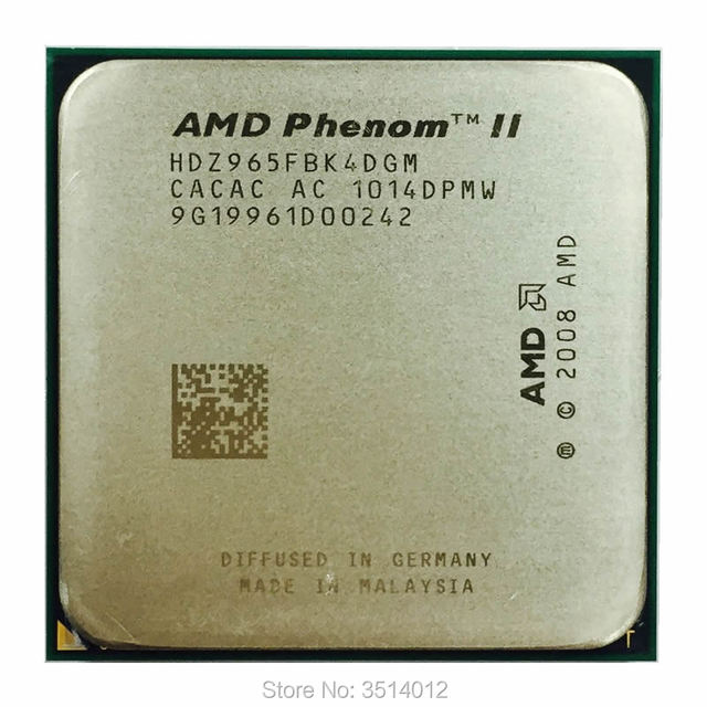 AMD Phenom II X4 965 3.4 GHz Quad Core CPU HDZ965FBK4DGM ซ็อกเก็ต AM3