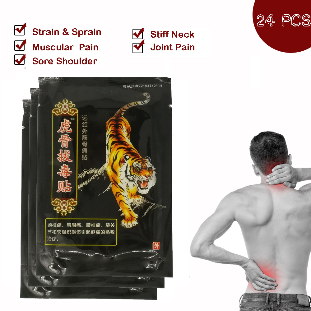 24pcs  Knee Joint Patch Pain Relieving Patch Sparadra  Back Pain Medical Patches Tiger Balm Medical Plasters Z08060