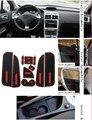 Para Peugeot 307 Coche Anti slip mat polvo pegatina puerta pad ranura puerta alfombras Interiores portavasos decoración