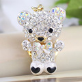 Hot Fashion Metal Gold Plated Keyring Fashion Crystal Animal Metal Key Chain Ring for Women Men Gift Charm Pendant Jewelry