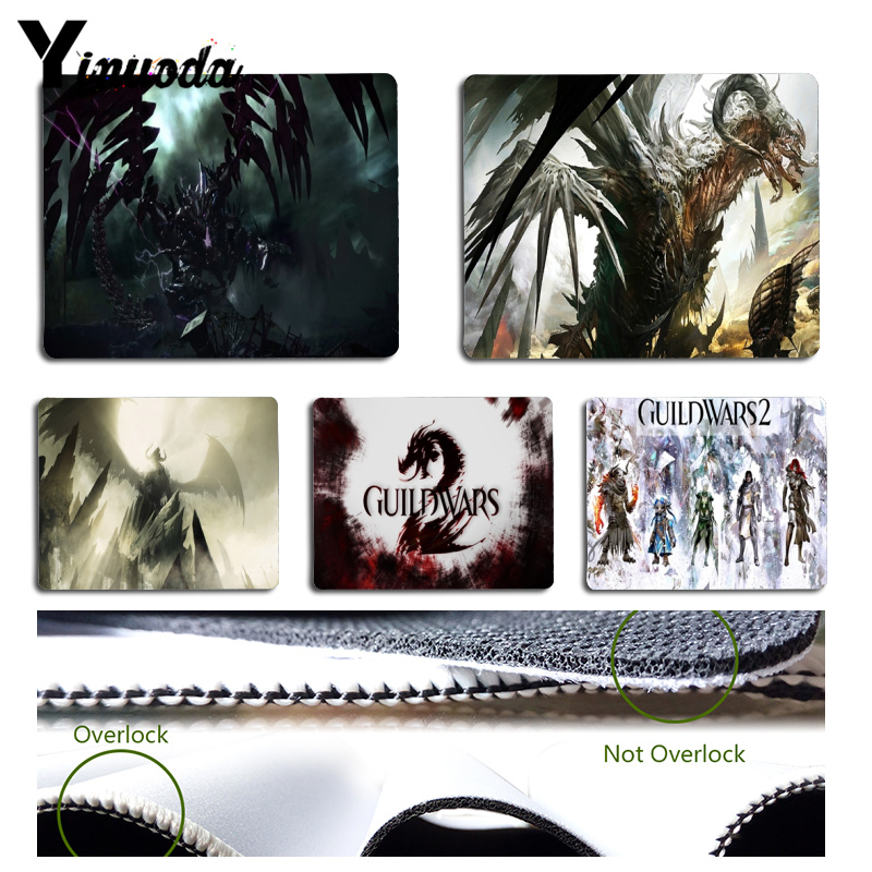 Yinuoda New Arrivals Guild Wars 2 gamer play mats Mousepad Size for 18x22cm 25x29cm Small Mousepad