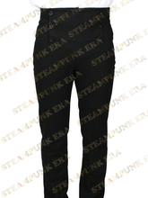 Free Shipping Modern Black Cotton Mens Steampunk Trousers