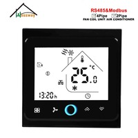 HESSWAY 2p air conditioning THERMOSTAT RS485/MODBUS RTU communication for 0-10V proportional signal control Valve switch