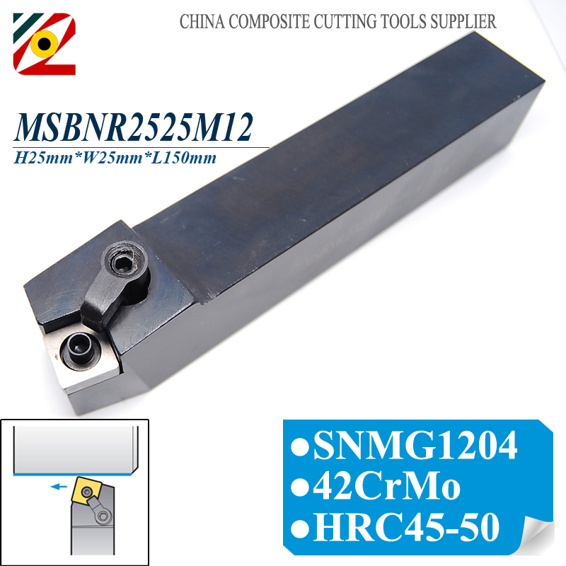 EDGEV MSBNR2525M12 MSBNR CNC Metal Lathe Cutter External Turning Tool Holder For Indexable Carbide Insert SNMG120408 цена