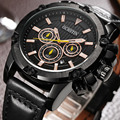 Ochstin hombres del cronógrafo del reloj de los hombres relojes casuales hombres de primeras marcas de lujo reloj de pulsera de cuarzo reloj militar relojes cronómetro 075a