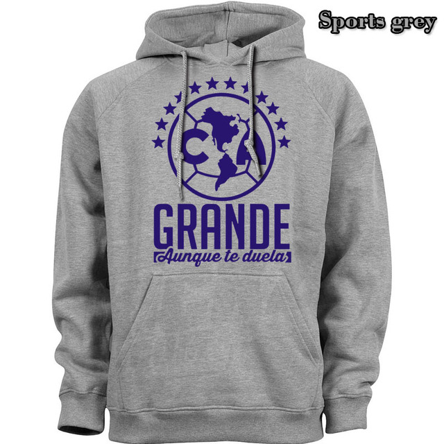 Mexico Aguila GRANDE Aunque te duela Club America classic Hoodies Spring autumn season Lightweight Sweatshirts Hooded Hoody 60