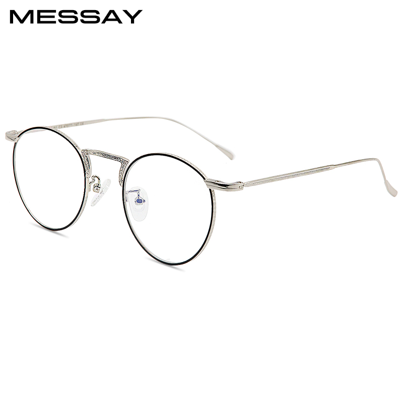 Vintage Brillen Runde Titan Brillenfassungen männer Lesen Rezept ...