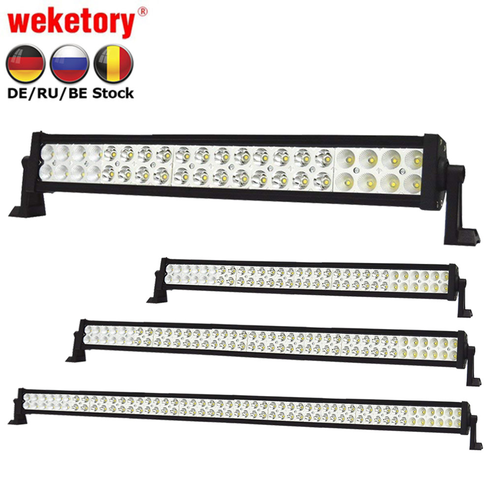 weketory 22 32 42 52 Inch 120W 180W 240W 300W LED Light Bar for Work Driving Boat Car Truck 4x4 SUV ATV Off Road Fog Lamp mz 22 120w 9600lm 30┬░ spot led work light bar off road suv atv fog lamp white yellow light 10 30v