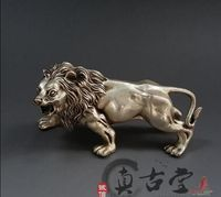 Silver plated copper copper lion Home Furnishing decorative craft gift