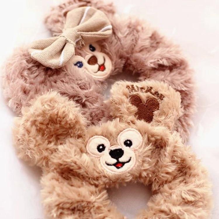 2 Colors 5cm Duffy Bear Shelliemay Plush Toy Bear Series Peripheral Circle Velvet Hair Band Wrist Strap For Girls Gift