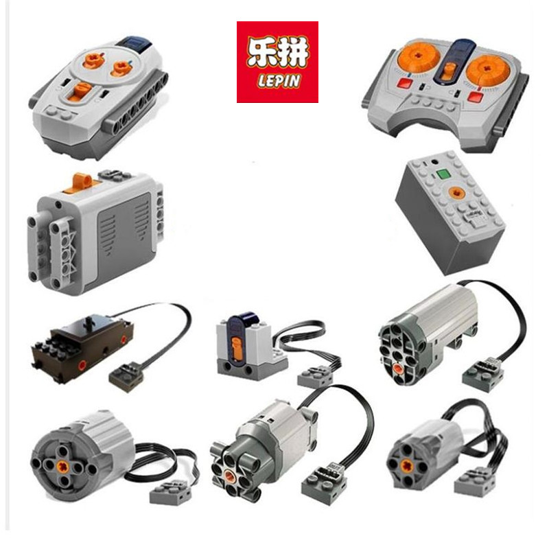 Auf Lager Lepin Zug Technik Series Power Motor Akku Box Ir-empfänger LED-Licht baustein ziegel