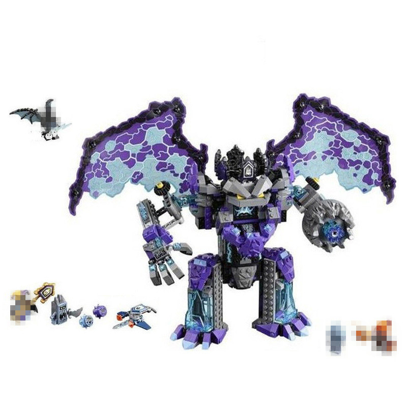785pcs Knight Stone Colossus of Ultimate Destruction Model Building Blocks 14036 Assemble Bricks Toy Nexus Compatible With 70356 785pcs knight stone colossus of ultimate destruction model building blocks 14036 assemble bricks toys nexus compatible with lego