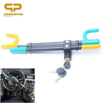 цена на Universal Baseball Bat Steering Wheel Lock For Car Protection Automobile Security Anti Theft Burglarproof Lock 3keys Copper Core