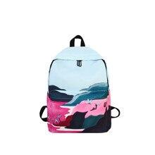 Menghuo 2018 Unisex School Backpack Bag Printed Backpack for Boys & Girls Student Book Bags Fashion Children Book Bag Mochila
