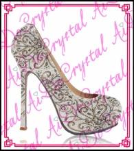 Aidocrystal fashion platform pumps sexy high-heeled thin heels round toe women's Wedding Shoes