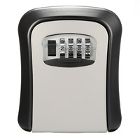 Safurance 4 Digit Combination Password Key Box Lock Safety Organizer Padlock Wall Mounted Home Security Safety