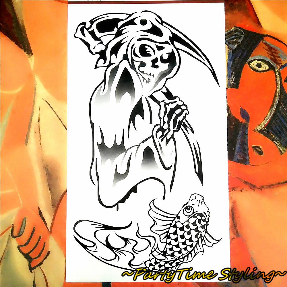 Killer Jack The Ripper Temporary Body Art Flash Tattoo Stickers 17 10cm Waterproof Tatoo Summer