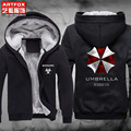 New Winter Jackets and Coats Resident Evil hoodie Anime umbrella Hooded Thick Zipper Men cardigan Sweatshirts