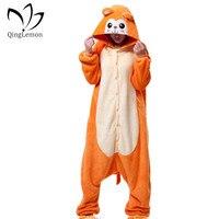 Golden Monkey Hot Unisex Adult Flannel Hooded Pajamas Sleepwear Cosplay Animal Onesies Cartoon Cute Pajamas Sets For Men Women