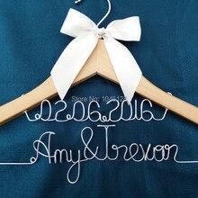 Персональная Свадебная Вешалка, подарки невесте, вешалка с именем, вешалка для платья невесты подарок для невесты, невесты вешалка для торжественное платье