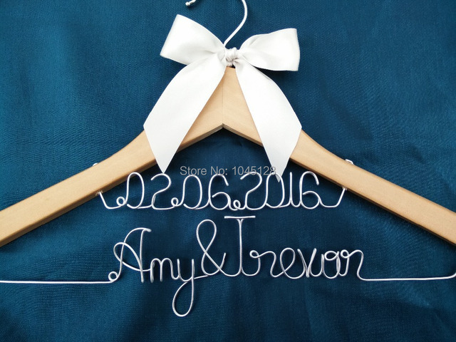personalized wedding hanger bridesmaid gifts name hanger brides