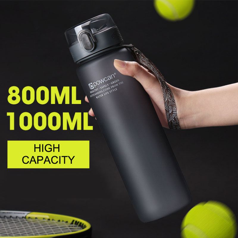 NEW Water Bottle Plastic 800ML 1000ML Drink Outdoor Sport School Leak Proof Seal Gourde Climbing Water Protein Shaker Bottles image