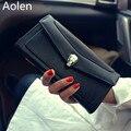 Aolen Del Mitón Del Monedero de Las Mujeres Carteras de Gran Cremallera Corta 2016 Marca de Lujo de Cuero de Las Señoras de Diseño de Alta Calidad Billetera Bolsas de Mensajero