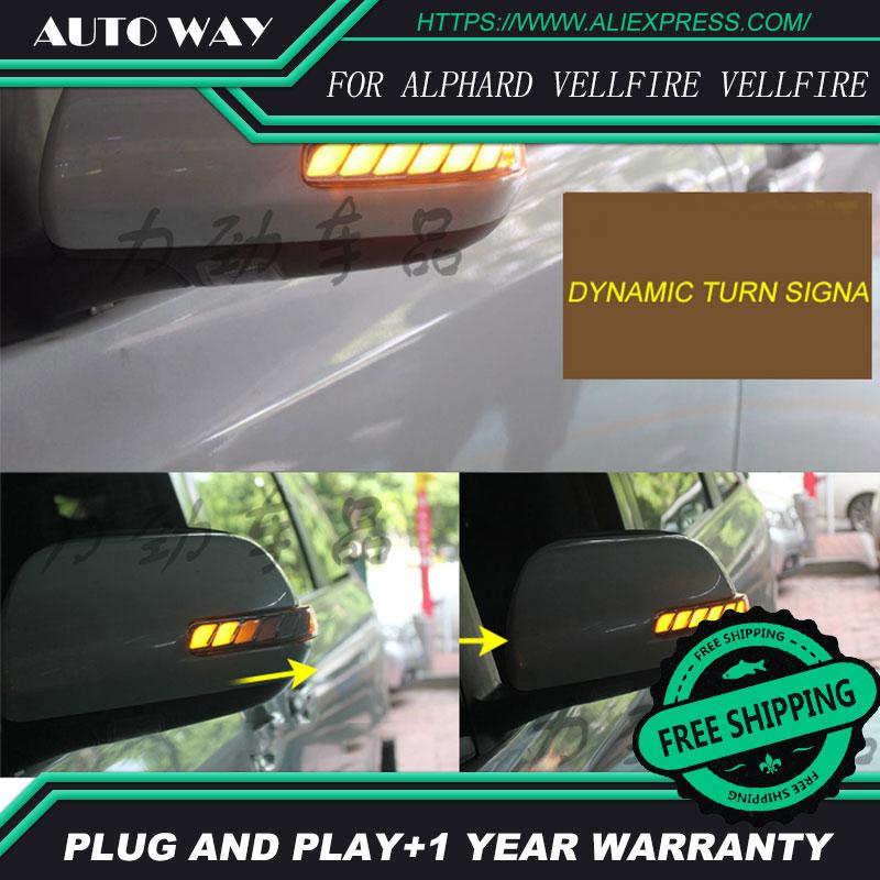 Car Styling free Shipping car-styling Car Led Lamp rearview mirror light lamp for Toyota ALPHARD VELLFIRE VELLFIRE alphard сабвуфер alphard machete m15d2 sport