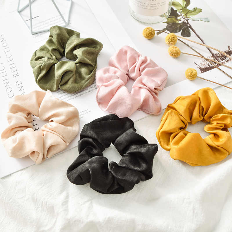 Fashion Frontier colors velvet women girls hair accessories rubber elastic rubber tape for female tie scrunchie tail holder